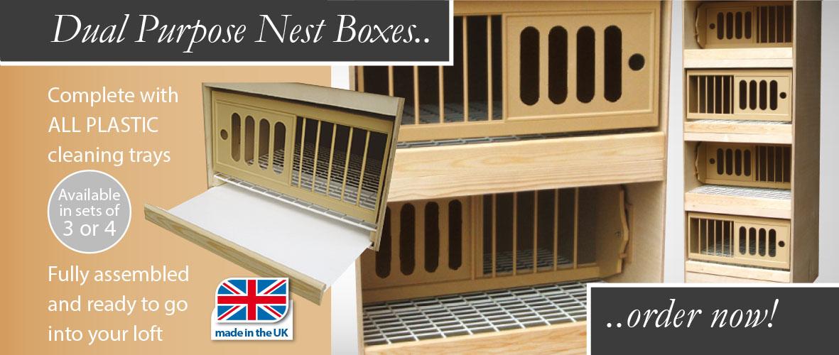 Dual Purpose nest boxes