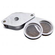 Pocket Magnifier with 2 lenses