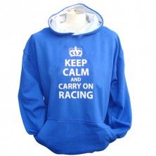 Keep calm carry on Racing Hoodie (Junior)