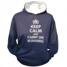 Keep calm carry on Winning Hoodie (Junior)