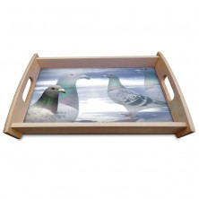 Sunset Blue Wooden Coffee/Tea Tray