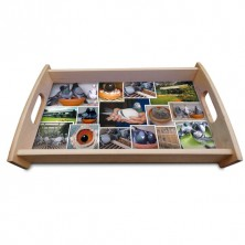 Pigeon Montage Wooden Coffee/Tea Tray