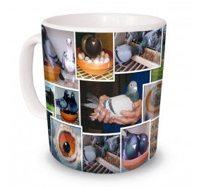 Pigeon Montage Mug
